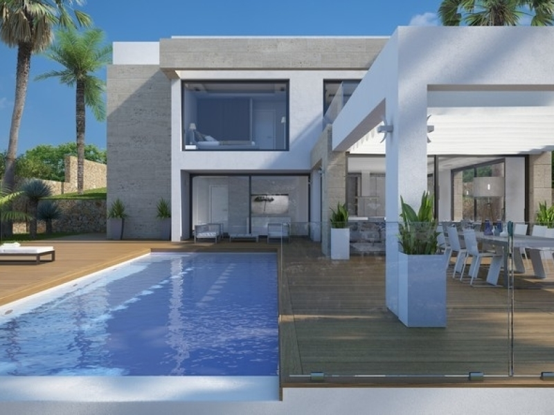 Modern, top quality house in Javea in construction